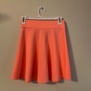 Charlotte Russe peachy/watermelon skater skirt